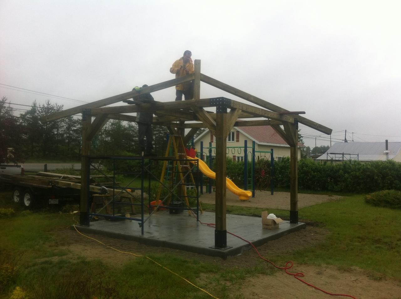 Durant la construction